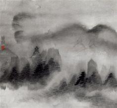 白云山(二 by zhu yamei