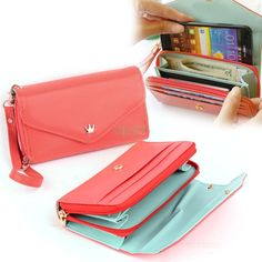 Hot New multifunction women wallets, Coin Case purse for iphone Galaxy, Women's fashion wallet Drop Shipping 36 Galaxy 4, Samsung Galaxy, Samsung S2, Coin Wallet, Clutch Wallet, Bags Travel, Small Leather Bag, Pu Leather, Online Shops