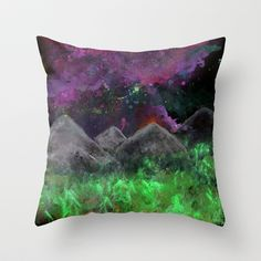 Mountains Throw Pillow by Bex Parker - $20.00 @ Society6