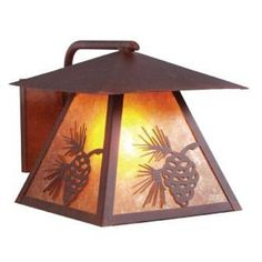 Steel Partners Pinecone 1 Light Outdoor Sconce Finish: Black, Shade Type: White Mica