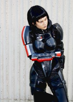 Holly Conrad as Fem Shepard from Mass Effect
