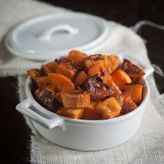 Maple Sweet Potatoes: a Quick and Healthy Holiday side!