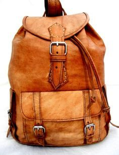 Handmade Soft Leather Backpack