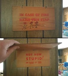 In Case Of Fire funny lol humor funny pictures funny signs hysterical funny images Best Funny Pictures, Funny Images, Pump It, The Meta Picture, Uber Humor, Gifs, You Stupid, Hanging Signs, Funny Signs