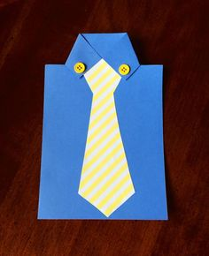 "Need a creative, quick, easy and inexpensive Father's Day craft idea for Dad or Grandpa? How about this new ""shirt""? It will be one he will always love! Materials: 1 sheet of 8.5 x 11 white card stock 1 sheet of 8.5 x 11 colored card stock or construction paper (the ""shirt"") Colored paper or …"