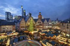 40 of the world's most impressive skylines - Matador Network. Looks like a small off set Village in Frankford, Germany.