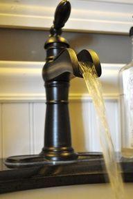Bathroom faucet idea, although not genuine farmhouse.