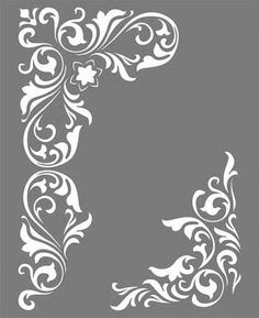 Stencil Patterns, Stencil Painting, Stencil Designs, Fabric Painting, Embroidery Patterns, Damask Stencil, Border Design, Pattern Design, Carving Designs