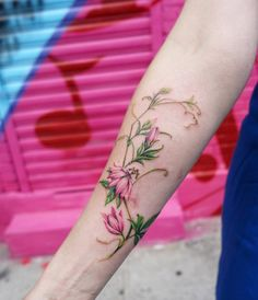 Florals on forearm by Nando