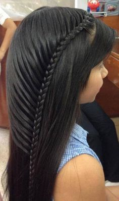 24 Impressive Half Braid Hairstyles For 2017 - Page 21 of 24 - The Glamour Lady Hot Hair Styles, Hair Styles 2016, Medium Hair Styles, Natural Hair Styles, Little Girl Hairstyles, Pretty Hairstyles, Braided Hairstyles, Half Braid, Fresh Hair