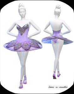 Violett dance dress at Sim-o-Matic via Sims 4 Updates