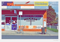 Image of Darebin Road Milk Bar - 111 x 76cm