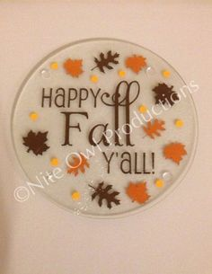 Glass Cutting Board / Trivet Fall Themed on Etsy, $8.00