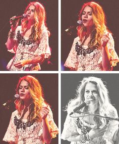 Bethany Joy Lenz singing at the Rock the Schools concert