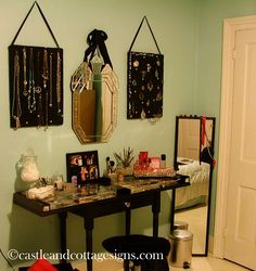 """wonderful """"girl only"""" space for makeup & jewelry."""