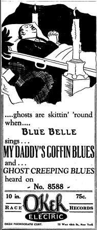 OKeh Ads Blue Belle - My Daddy's Coffin Blues (No. 8588)