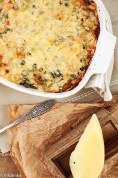 Creamy Crab, Leek and Mushroom Lasagna
