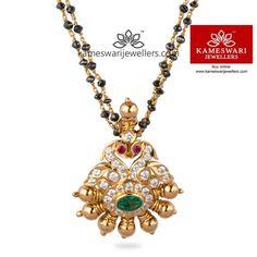 ideas indian bridal jewellery set diamond pendant for 2019 Diamond Mangalsutra, Gold Mangalsutra Designs, Gold Earrings Designs, Gold Jewellery Design, Gold Jewelry Simple, Mom Jewelry, Silver Jewelry, Beaded Jewelry, Handmade Jewelry
