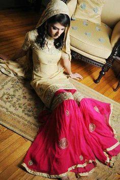 Beautiful Bridal Sharara, Pakistani bridal