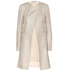 Nina Ricci Sequinned Tweed Coat ($1,225) ❤ liked on Polyvore