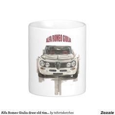 Alfa Romeo Giulia draw old time classic car Coffee Mug
