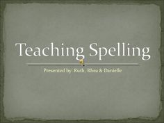 Slide show for teaching spelling for the Australian curriculum with references