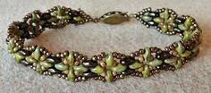 Linda's Crafty Inspirations: Bracelet of the Day: Harmony Bands - Olive & Jet