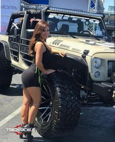 I fully appreciate the things that these folks designed on this personalized Jeep 4x4, Jeep Truck, Chevy Trucks, 4x4 Trucks, Lifted Trucks, Jeep Wrangler Girl, Jeep Wrangler Unlimited, Woman In Car, Jeep Baby
