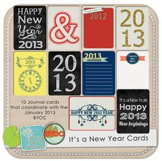 The Lilypad :: Journal Cards :: It's A New Year Cards