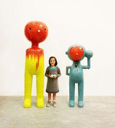 Ceramics by Taehoon Kim. Ceramic Figures, Ceramic Artists, Contemporary Artwork, Contemporary Ceramics, Contemporary Sculpture, Ceramic Pottery, Ceramic Clay, Art And Architecture, Elementary Art