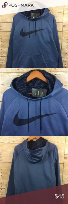 "Nike Therma Chest Swoosh Training Hoodie NWT Nike  Therma Chest Swoosh Training Hoodie  Mens XL   100% Polyester   Armpit to Armpit - 26"" Shirt Length - 30"" Nike Jackets & Coats"