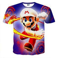 Super Mario Fire Flower Upgrade Urban Wear Style T-Shirt    #Super #Mario #Fire #Flower #Upgrade #Urban #Wear #Style #TShirt