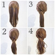 Different spin on a classic ponytail Casual Hairstyles, Pretty Hairstyles, Easy Hairstyles, Beautiful Braids, Long Hair Cuts, Hair Trends, Diy Design, Hair Inspiration, Hair Makeup