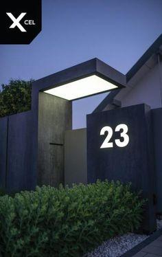 Ideas For House Entrance Exterior Modern Fence - Zaun House Gate Design, Door Gate Design, Gate House, Entrance Design, Entrance Gates, House Entrance, Entrance Ideas, Gate Designs Modern, Modern Fence Design