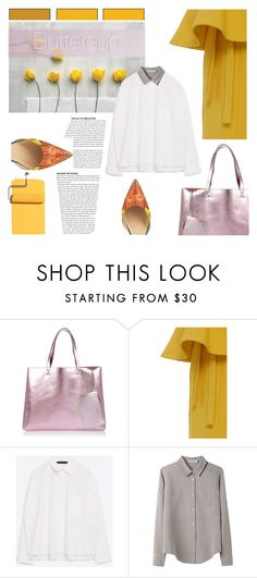 """""""Buttercup"""" by pattykake ❤ liked on Polyvore featuring River Island, Rosie Assoulin, Zara, T By Alexander Wang and Paul Andrew"""