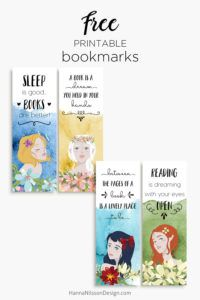 Quote bookmarks | Free printable bookmarks with reading quotes | #printables #bookmarks #reading #girls #watercolor #planners