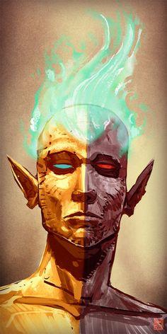 a quick speedpaint of vehk High Fantasy, Medieval Fantasy, Fantasy Character Design, Character Art, Creature 3d, Elder Scrolls Skyrim, Dark Elf, Cyberpunk Art, Fantasy Illustration