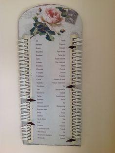 Handig boodschappenlijstje in mijn kleine keuken