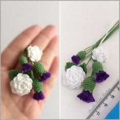 Crochet these thistles… free directions. DoubleTrebleTrinkets