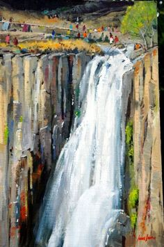 Howick Falls painted by SA artist John Smith