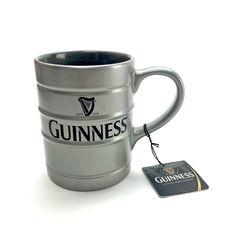 Genuine GUINNESS Mug Barrel Type Half Pint Official Merchandise Rare Cup BNWT Half Pint, Guinness, Barrel, Cups, Tea, Coffee, Tableware, Kaffee, Mugs