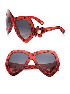 Dotted Plastic Butterfly Sunglasses
