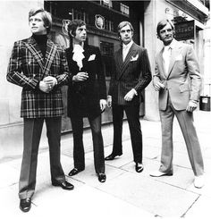 1970s Mens Fashion Henry poole, 1970s:
