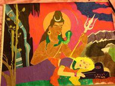 Om Namah Shivaya! Gel Pen/Colored Pencil/Marker on paper. October 21, 2015. By: Roxanna Arnett