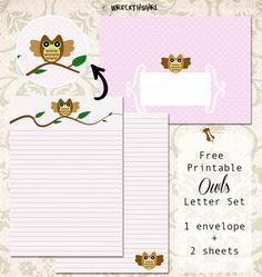 Free Printable Owls Letter Set