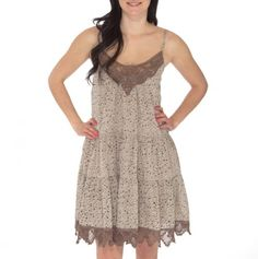 Floral Tiered Dress with Lace Trim - Spring Into Trendy Fashions - Events