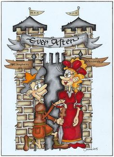 A cartoon from @jannenordvang with #CharlesShaughnessy & #ChristineEbersole  from the upcoming PaperMill Playhouse production of the World Premier of EVER AFTER the Musical!
