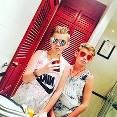 suns out, guns out 😍 Cute Twins, Cute Boys, I Go Crazy, M Photos, L Love You, Cute Memes, Cool Baby Stuff, Summer Shorts, Kurt Cobain