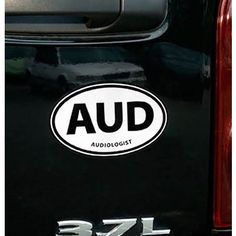 """AUD: Audiologist"" Oval Car Magnet"