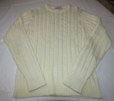 Womens Cranbrook **see measurements** off white long sleeve sweater shirt EUC #Cranbrook #longsleevesweater #Casual
